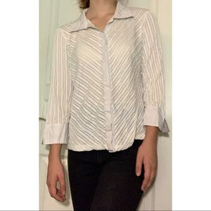 Collared Striped Button Up